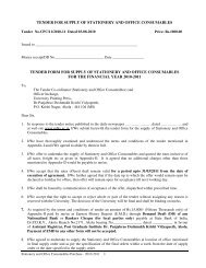 tender for supply of stationery and office consumables ... - pdkv. ac.in