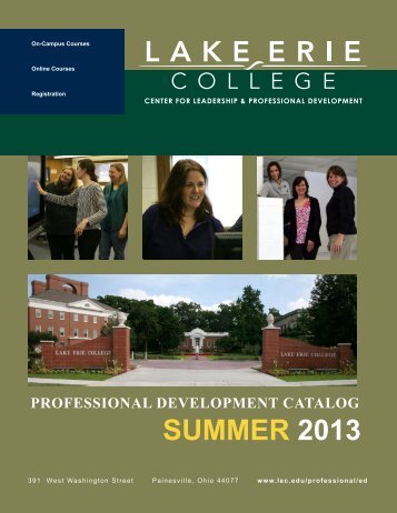 Summer 2013 Professional Development Catalog - Lake Erie College