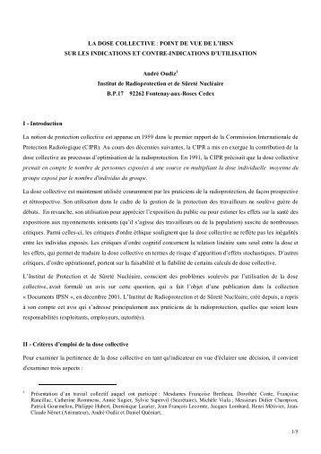 Pour télécharger le texte de la communication (pdf, 39 Ko) - IRSN