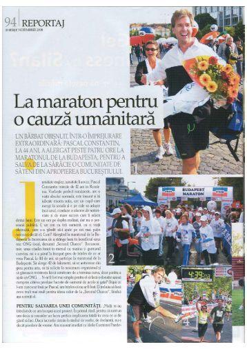 La maraton pentru __ - o cauza umanitara - second chance romania