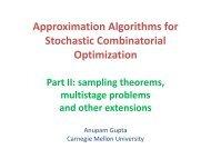 Stochastic Online Algorithms - LNMB