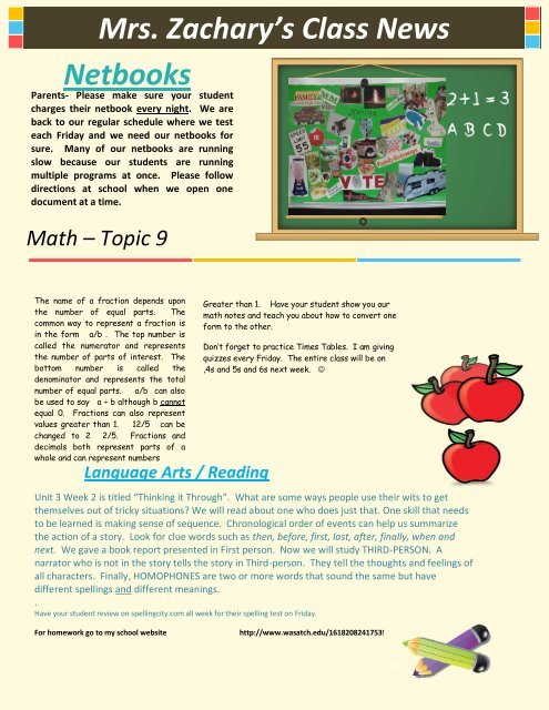 Newsletter templates for school I