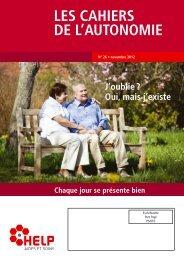 LES CAHIERS DE L'AUTONOMIE - Croix-Rouge luxembourgeoise
