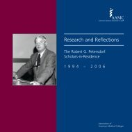 Research and Reflections - AAMC's member profile