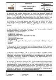 Konkrete vorvertragliche Informationen - Seniorenresidenz Moseltal