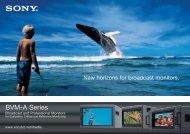 BVM-A Series BVM-A Series - Sony Professional