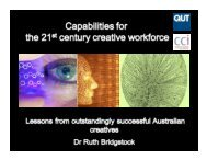 Capabilities for the 21st century creative workforce: lessons from ...