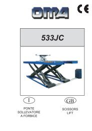 ponte sollevatore a forbice scissors lift - V-Tech Garage Equipment