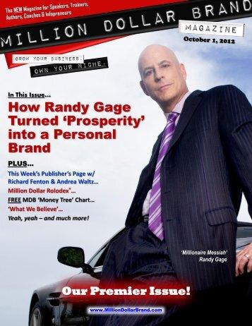 Million Dollar Brand Magazine October 1 2012