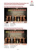 2012 hong kong bodybuilding championships cum 3rd south ... - ABBF - Page 4