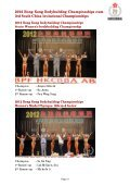 2012 hong kong bodybuilding championships cum 3rd south ... - ABBF - Page 5