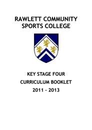 Year 9 Options - The Rawlett School