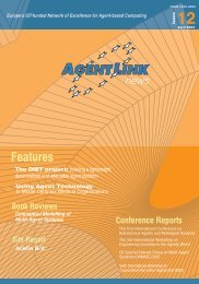 Issue 12 (April 2003) - AgentLink