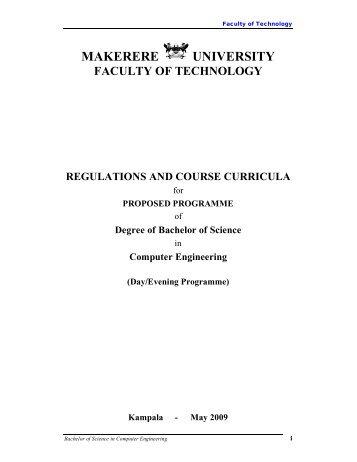 MAKERERE UNIVERSITY - Office of the Academic Registrar ...