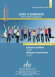 télécharger le guide d'admission en 3ème année et ... - EBS Paris