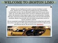 WELCOME TO iBOSTON LIMO