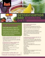 Detoxification and Cleansing Diets (pdf) - City of Windsor Wellness