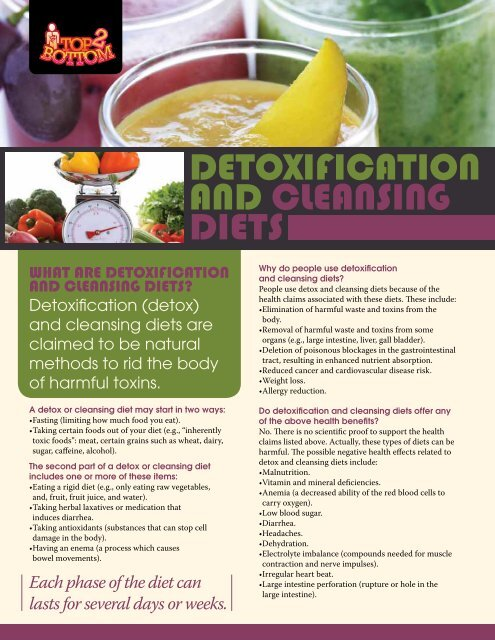 Detoxification and Cleansing Diets (pdf) - City of Windsor