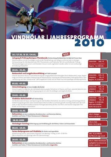 vindhólar | jahresprogramm 2010