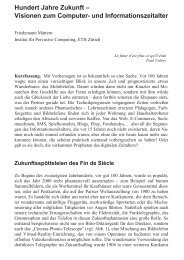 Hundert Jahre Zukunft - The Distributed Systems Group - ETH Zürich