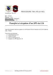 Transfert et réception d'un SPI via L16