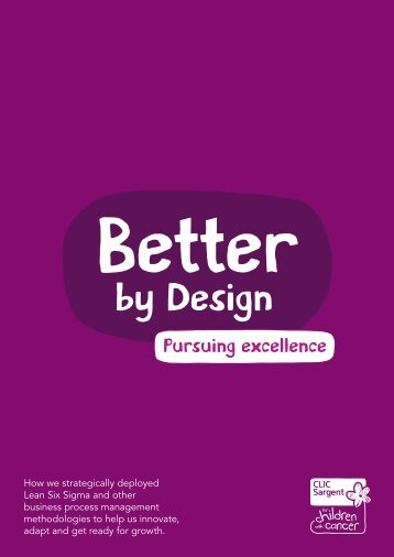CLIC Sargent Better by Design programme