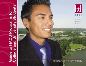 Guide to HACU Programs for College and University Students