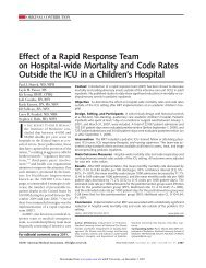 Effect of a Rapid Response Team on Hospital-wide ... - Cardiff PICU