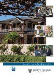 Year 6/7 Curriculum Book - 2012 - Loreto College