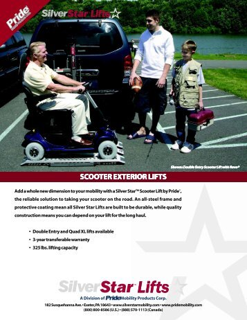 Pride Scooter Exterior Lifts Brochure