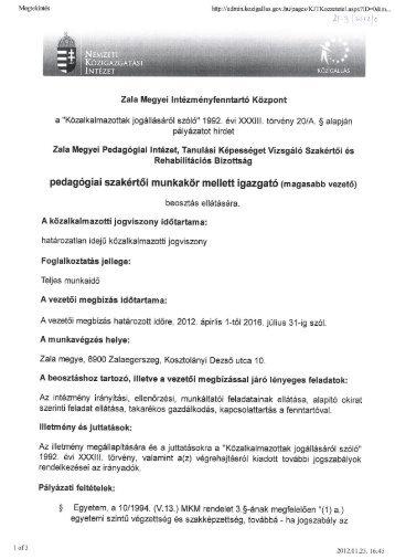 """""""Közalkalmazottakjogállásáról szóló"""" 1992. évi XXXIII. törvény 20/A."""