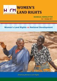 Enhancing Women's Land Rights - Uganda Land Alliance