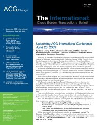 The International: - Association for Corporate Growth