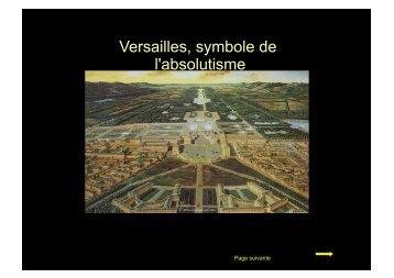 Versailles, symbole de l'absolutisme