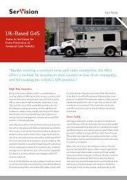 UK-Based G4S Turns to SerVision for Extra Protection of Armored ...