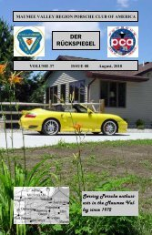 Volume 37 Issue 8, August 2010 - Maumee Valley - Porsche Club of ...