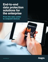 End-to-end data protection solutions for the enterprise From ... - Asigra