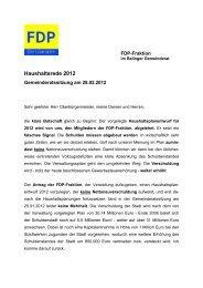 Haushaltsrede 2012 - FDP Balingen