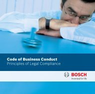 Code of Business Conduct - Bosch
