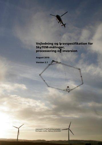 Vejledning og kravspecifikation for SkyTEM-målinger - Aarhus ...