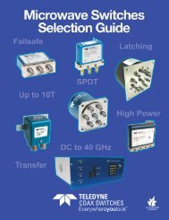 Download our Microwave Switches Selection ... - Teledyne Relays