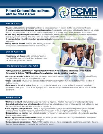 What You Need to Know - Patient-Centered Primary Care ...