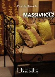 PINE-LIFE Katalog Massivholz