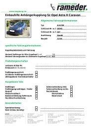 Einbauhilfe Anhängerkupplung für Opel Astra H Caravan