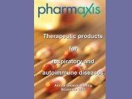 AGM Presentation Slides - Pharmaxis