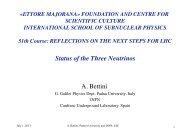lecture - Ettore Majorana - Infn