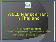 WEEE Management in Thailand