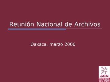 Avance y perspectivas del Censo Guía de Archivos ...