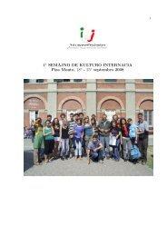 raporto de IEJ - Itala Esperantista Junularo