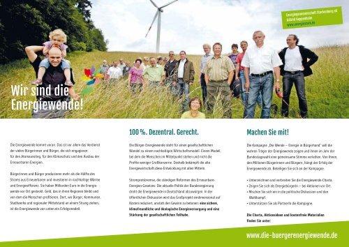 www.die-buergerenergiewende.de Vorfahrt für Energie in ...